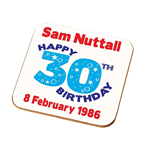 Daddys Uncles Sons Brothers Personalised 30th Birthday Gift Mens Coaster Add Any