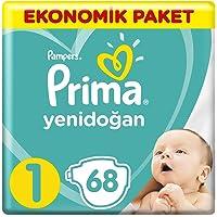 Prima Bebek Bezi Yeni Bebek 1 Beden Yenidoğan Ekonomik Paket 68 Adet