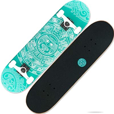 "31.25""Skateboard Full Longboard Double Kick Skateboard 7 Layers Deck Maple for Extreme and Outdoor Sports for Teenagers Adults Beginners Girls Boys : Sports & Outdoors"