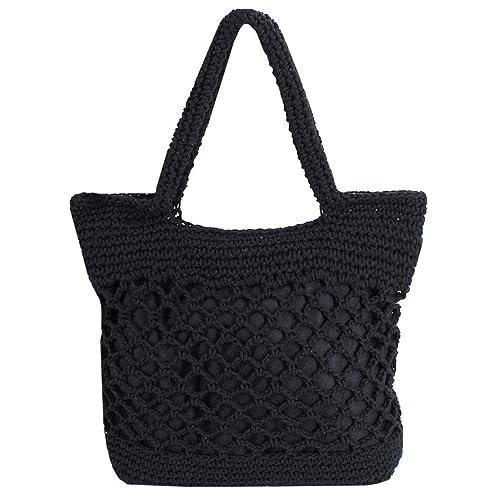 Millya - Bolso de mano para mujer, hecho a mano, tejido de ...
