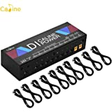 Docooler Caline CP-201 Multifunction Power Supply Station DI Box Isolated 10-Ways Outputs for 9V/12V/18V Guitar Effect Pedalboards with Short Circuit Protection AU Plug