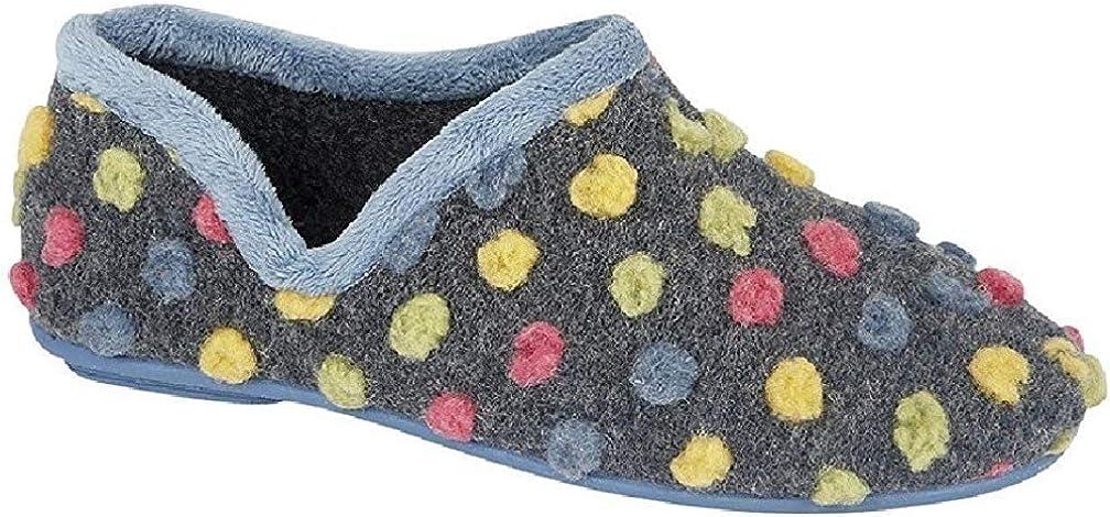 Sleepers Womens//Ladies Jade Dotted Full Slippers