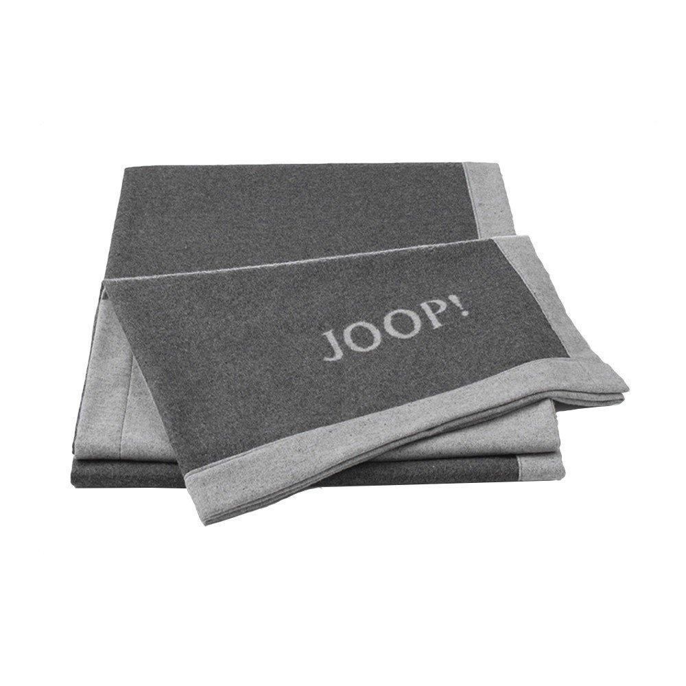 JOOP  Wohndecke Resort Doubleface anthrazit - 150x200 cm leichte Wohndecke Sofadecke