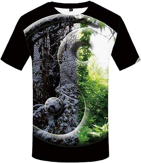 YAMAO Camiseta Hombre Camisa de Manga Larga Ropa Ligera Rock Camisetas Negras Animal 3D Camiseta Ropa para Hombre: Amazon.es: Deportes y aire libre