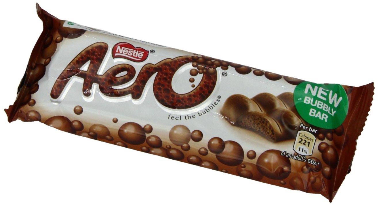 Amazon.com : Nestle Aero Milk Chocolate Bar, (27 g) 1.4 Ounce ...