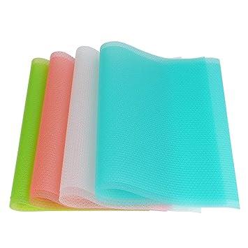 Qliver 8er Antibakterielle Kühlschrankmatten Matten entziehen Feuchtigkeit