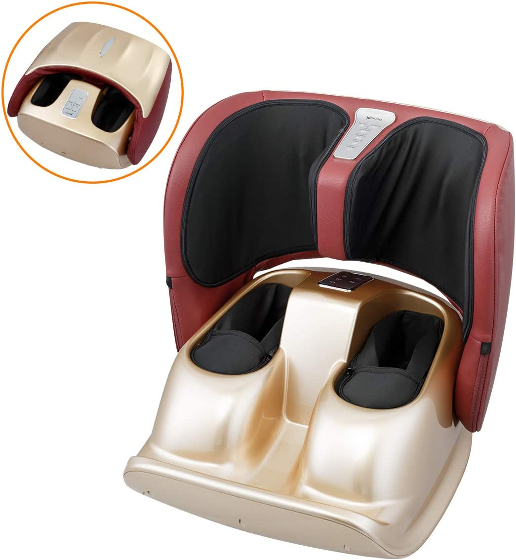Foot Massager Machine with Heat,Foldable Kneading Foot Massage for Blood Circulation with Remote Control