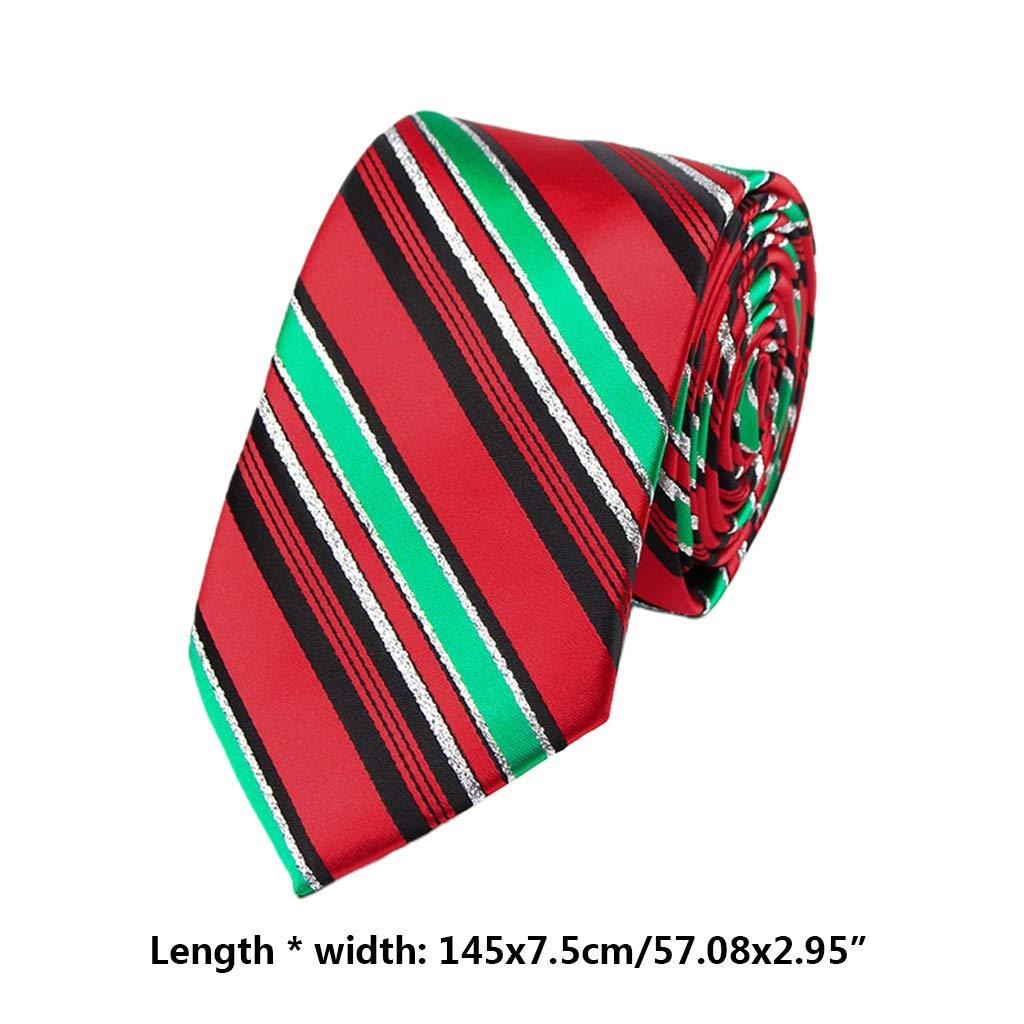 Zhoujinf-Mann-Weihnachtskrawatten-Neuheits-bunter Weihnachtsbaum Santa Claus Printed Holiday
