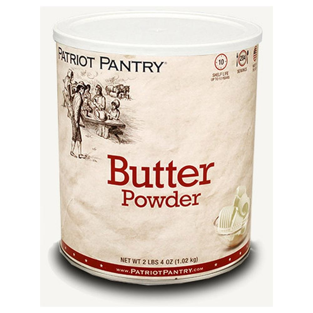 Patriot Pantry Butter Powder (204 servings) #10 Can Bulk Emergency Storage Food Supply, Up to 10-Year Shelf Life