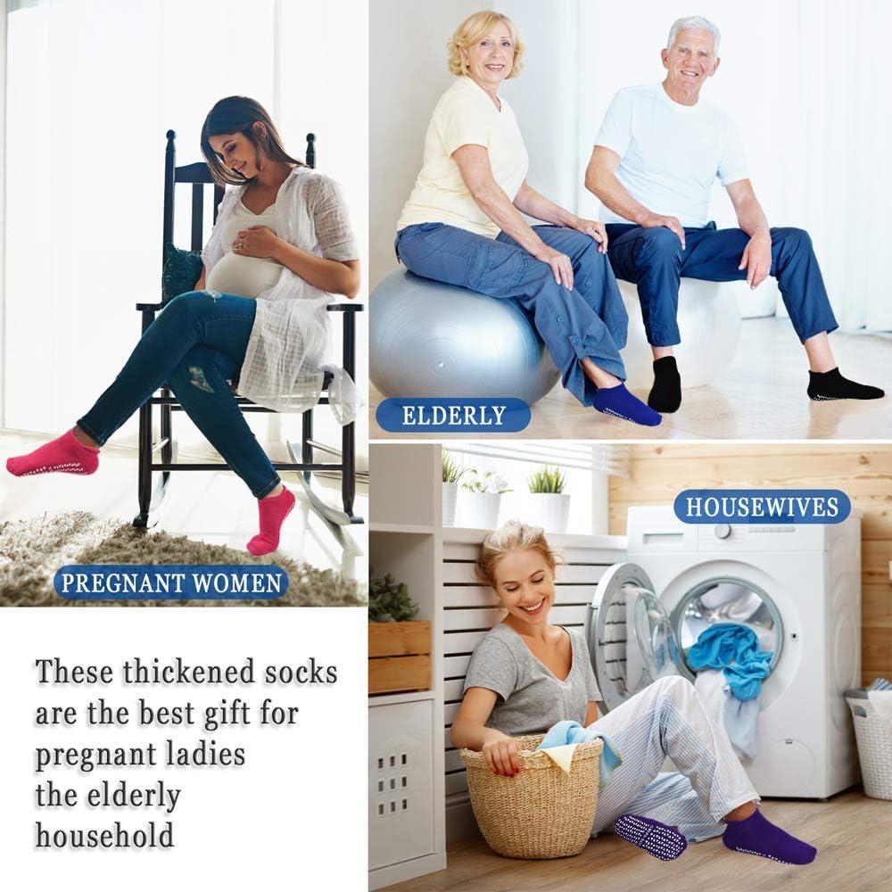 Hospital Home Sticky Slipper Socks for Women Men Non Slip Anti Skid Socks with Grips for Yoga Pilates Barre Fitness