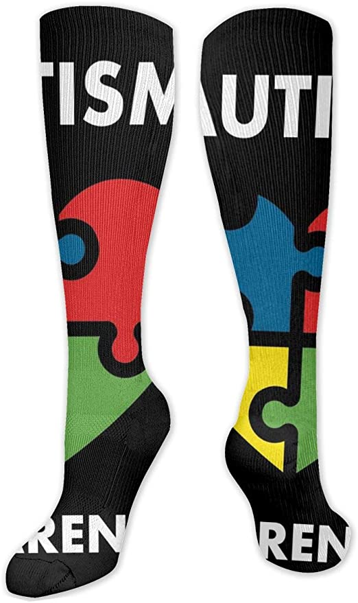 Fashion Travel Breathable Socks Autism Awareness Colorful Puzzles Men /& Women Running Casual Socks
