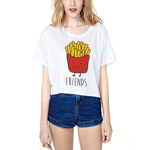 JWBBU Mujeres Camiseta Manga Corta con Cuello Redondo Personalizar Camisetas Cortas Personalizadas M...
