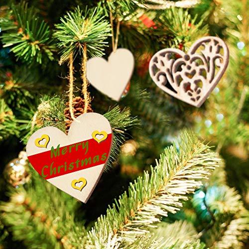 VGOODALL Holzherzen Deko, 500 STK. Holzscheiben Herz Streudeko zum Basteln DIY für Hochzeitsdeko Tisch Weihnachten Geburtstag Taufe Valentinstag Geschenkanhänger