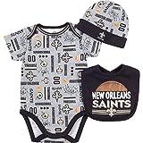 Gerber New Orleans Saints Football Baby Boys Bodysuit, Bib & Cap Set (0/3 Months