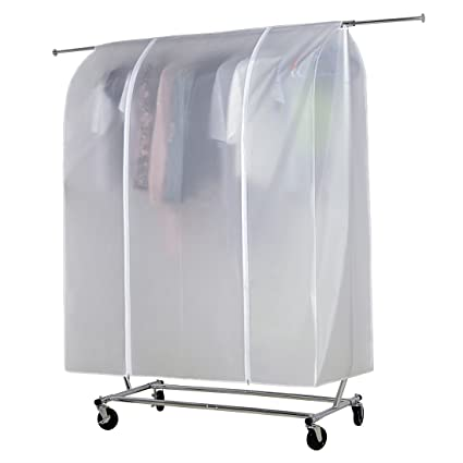 Amazon.com: HLC White Cloth Garment Rack Cover Home Bedroom