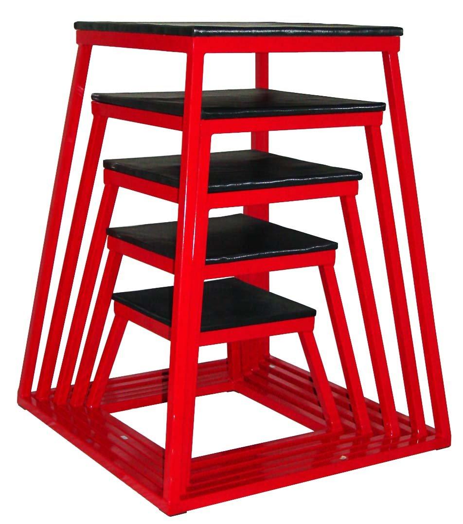 Plyometric Platform Box Set- 12'', 18'', 24'', 30'', 36'', 42'' Red