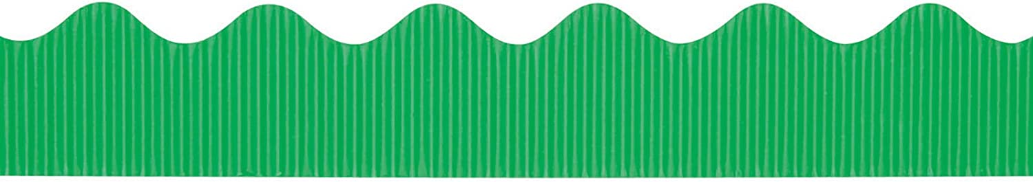 "Bordette Scalloped Decorative Border P37134, 2-1/4"" x 50', Apple Green, 1 Roll"