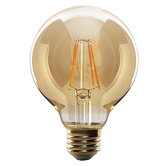 Sone - Bombillas LED de estilo retro tipo Edison con imitación de filamento decorativo en forma espiral.