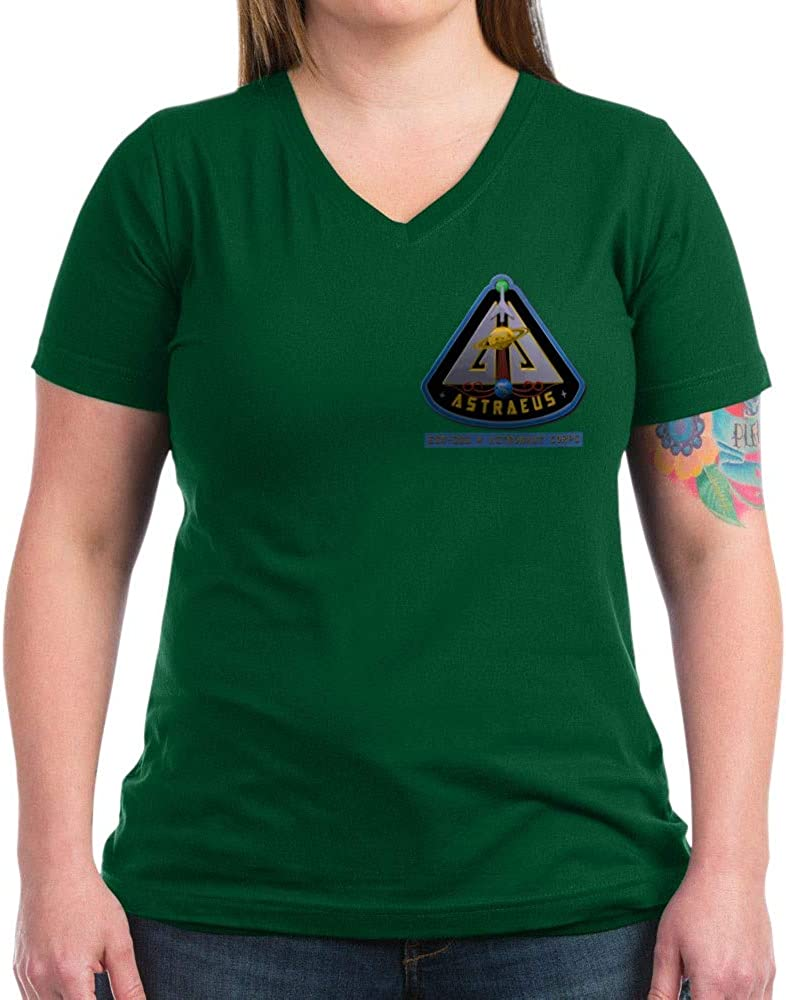 CafePress Astraeus Chest Patch Women's V Neck V-Neck T-Shirt