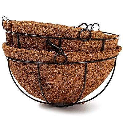 Hanging Flower Pot Basket (8 x 21 in, 2 Pack): Garden & Outdoor