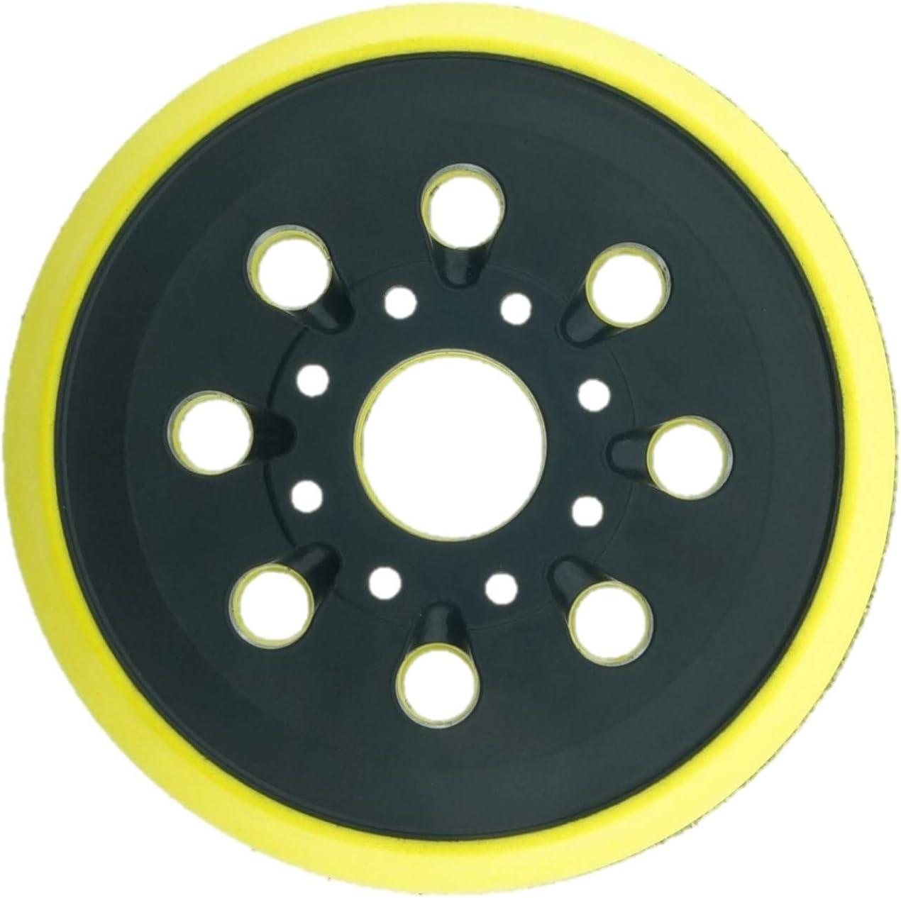2 x SabreCut OSSCSPB220MH/_2 125mm Medium Hard 8 Hole Random Orbital Sander Hook /& Loop Backing Pads for Bosch PEX220 Skil 7402 7490