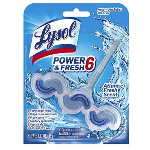 - Lysol Power & Fresh 6 Automatic Toilet Bowl Cleaner - Atlantic Fresh Scent 1.37 oz