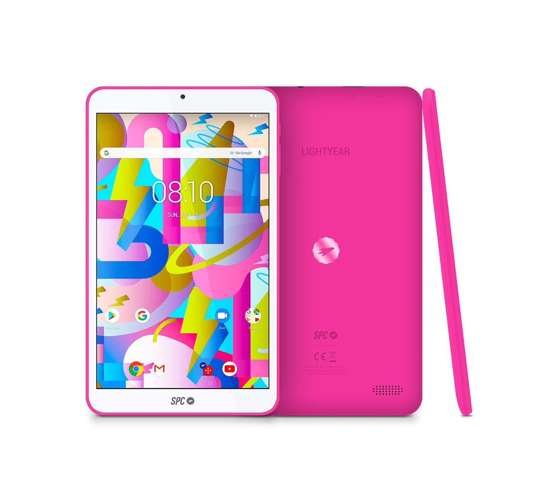 SPC Lightyear Tablet Rosa con Pantalla IPS de 8 Pulgadas y Memoria RAM de 2GB
