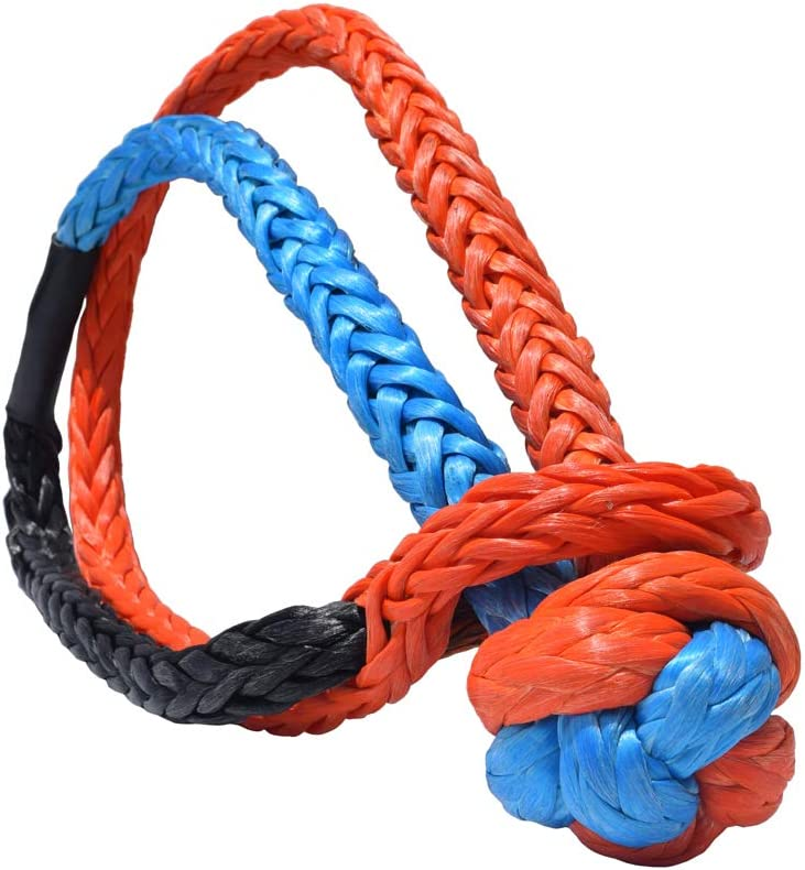 2 Pack UHMWPE Soft Shackle Recovery Rope for Sailing SUV ATV 4X4 Truck Jeep Recovery Climbing Towing 35,000lbs Breaking Strength Kohree Synthetic Soft Shackle,7//16 Inch X 20 Inch