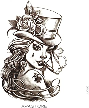 Tatuaje Temporal Mujer Joker tatuaje efímero Mujer Joker ...