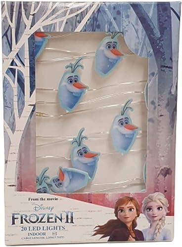 Disney Frozen II Olaf Luz LED Cálido Interior Luz Navidad Pack Regalo Nuevo: Amazon.es: Iluminación