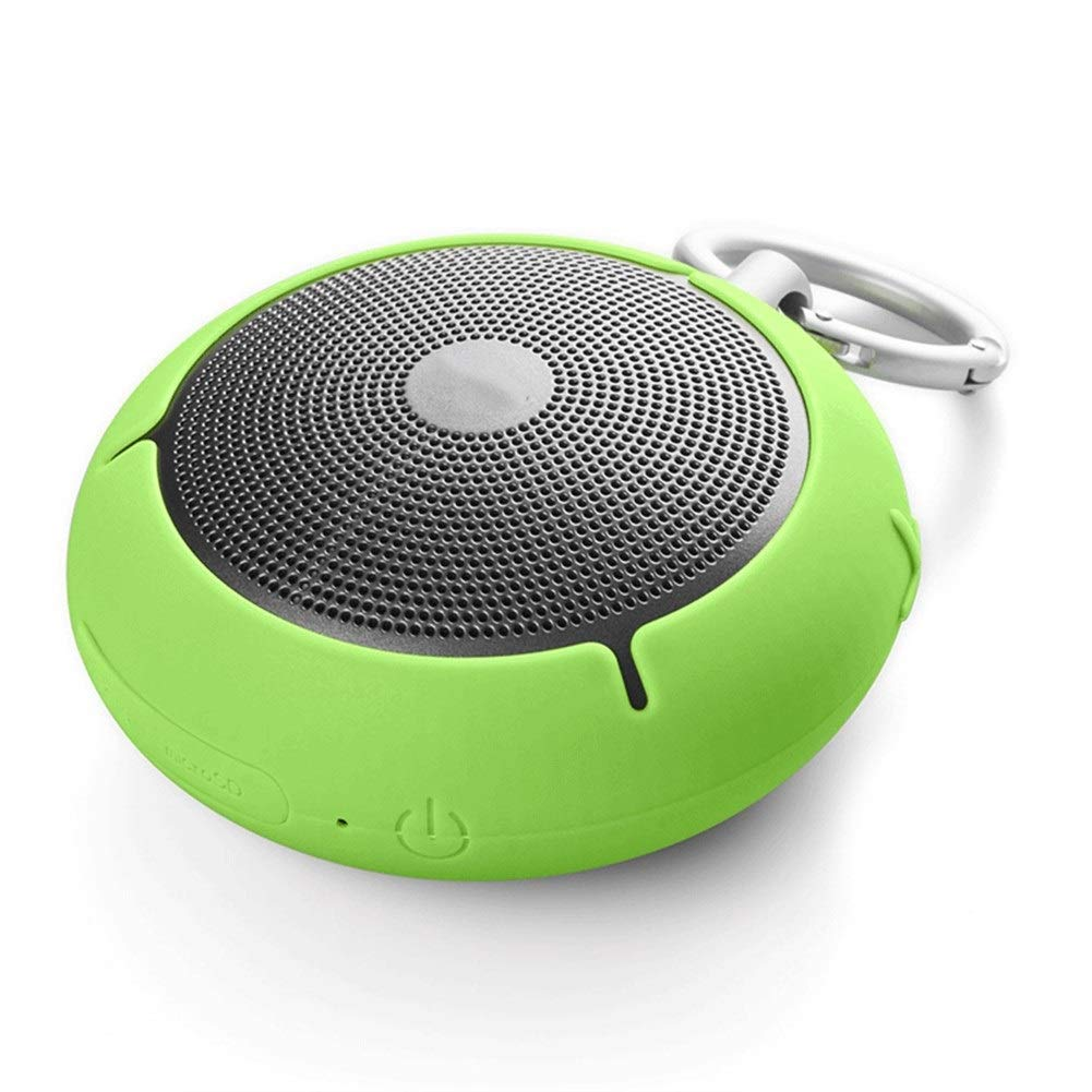 AZZ Bluetooth Shower Speaker Water Resistant Wireless Bluetooth Speaker Build-in Microphone (Color : Green) by AZZ