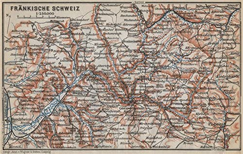 Amazon Com Franconian Switzerland Frankische Schweiz Topo Map