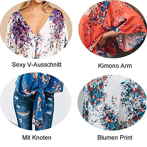 Mode Manches Loisir Motif 4 Fleur Haut 2 Printemps Vetement Shirts Vintage Bouffant V Tops Cou Et 3 Chemise Basic Nou Chemisiers Elgante Femme Efq0gg