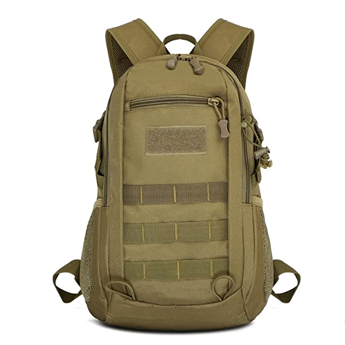 9820de265635 12L Military Backpack Mini Daypack Tactical Assault Pack MOLLE Backpack  Rucksack Summer Winter Small Backpack Student
