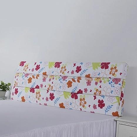 sección delgada de la esponja almohadones de cabecera almohada de espalda grande almohada tridimensional de tela