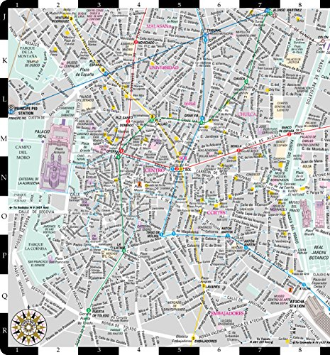 Streetwise Madrid Map  Laminated City Center Street Map of Madrid