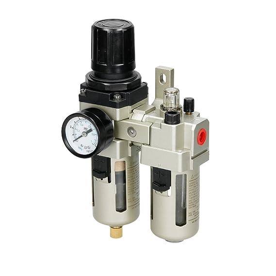 ECD Germany Filtro separador de agua y aceite para compresor 1/4