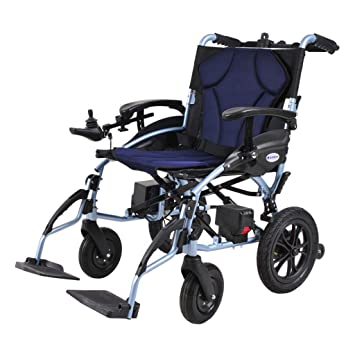 Amazon.com: Silla de ruedas eléctrica plegable de litio para ...