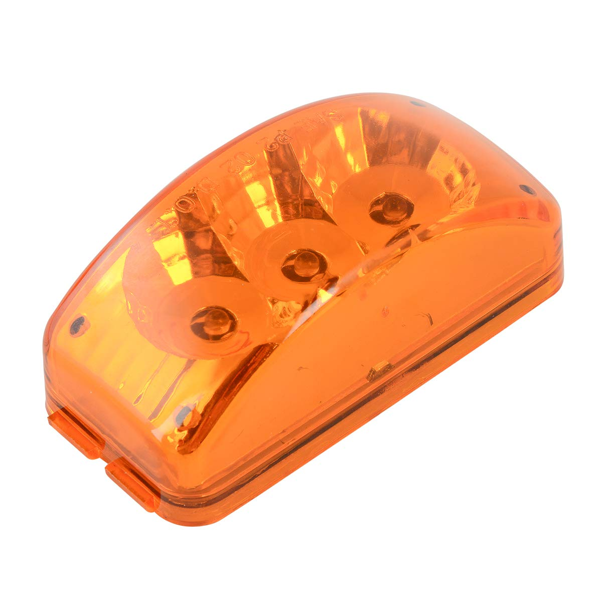 GG Grand General 77871 Amber//Clear LED Light Small Rectangle Spyder Grommet