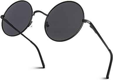Mode lunettes de soleil femmes rétro en métal grande boîte