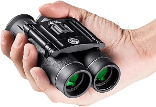 10×25 Binoculars for Adults Kids Children, Mini Compact Binoculars for Bird Watching, for Hunting, Hiking and Concert – with Carrying Bag
