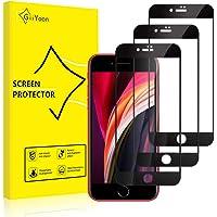 GiiYoon 3 sztuki folia ochronna ze szkła, Folia Ochronna kompatybilny z iphone SE 2020/iphone 7/iphone 8, Twardość 9H…