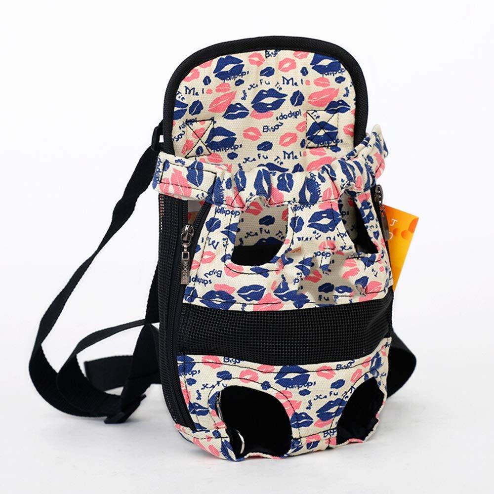 C 38CMX20CM C 38CMX20CM Xiao Jian- Pet Bag Dog Backpack Pet Chest Bag Teddy Dog Bag Outing Carrying Case Pet Chest Strap Back Dog Bag Pet bag (color   C, Size   38CMX20CM)