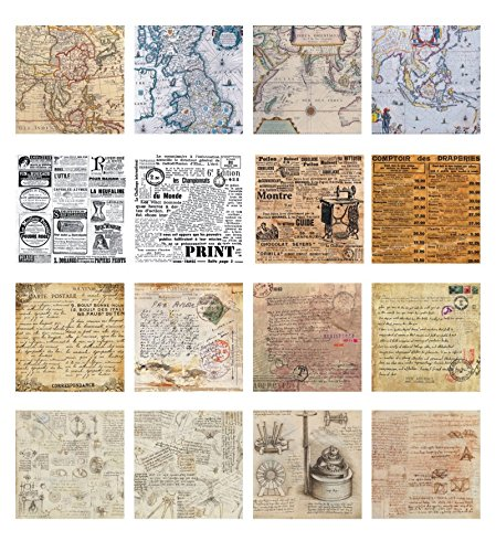 Vintage Newspaper - 32 Sheet Vintage DIY Decorative Stickers Background Sticker