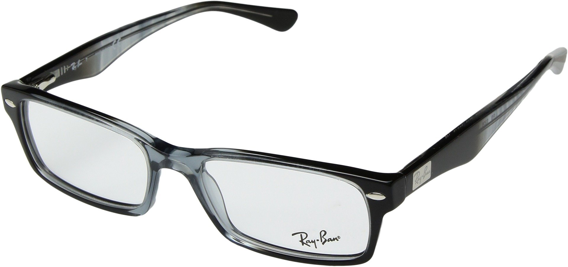 Ray-Ban Unisex 0RX5206 54mm Gradient Grey/Black One Size