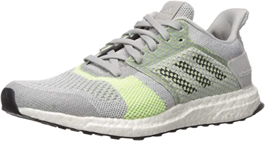 Details about ADIDAS Ultraboost ST Stability Running Sneaker Grey Lime Green Knit Shoe Men 8.5
