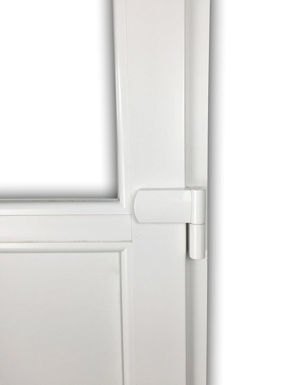 80 x 190 cm DIN Rechts wei/ß Nebeneingangst/ür mit Dr/ückergarnitur Innen/öffnend 2-fach-Verglasung verschiedene Ma/ße