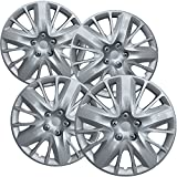 2011 cadillac srx rims - OxGord Hubcaps for 18 inch Standard Steel Wheels (Pack of 4) Wheel Covers - Snap On, Silver