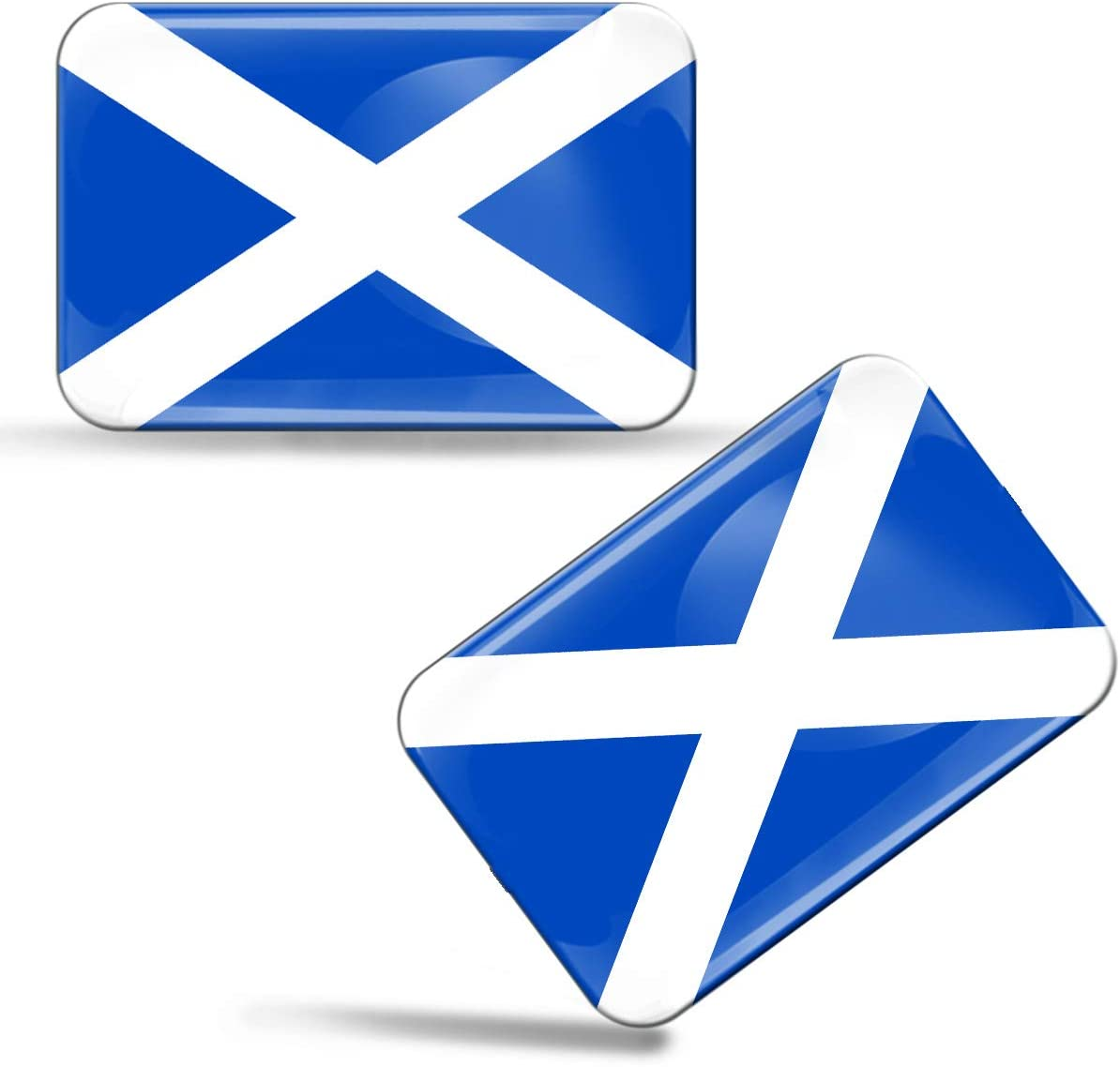 Biomar Labs 2 X Aufkleber 3d Gel Silikon Stickers Schottland Scotland Schottische Flagge Fahne Flag Auto Motorrad Fahrrad Fenster Tür Pc Handy Tablet Laptop F 56 Auto