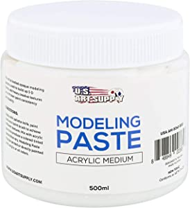 U.S. Art Supply Modeling Paste Acrylic Medium, 500ml Tub